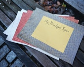 SALE - My Thankful Space Paper Placemats available in White and Silver, and Red and Blue with Gold Paper -  Individual Placemat
