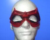 Dark Red Cat Burglar Leather Mask