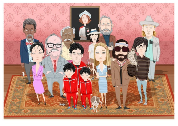 CUSTOM PORTRAIT I always wanted to be a Tenenbaum Movie Poster art Personalized Art drawing illustration ink Bill Murray