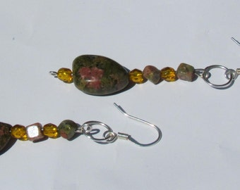 Unakite Stone Earrings