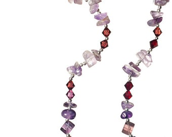 Amethyst Necklace & Pendant (FREE SHIPPING)