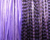 50% Sale Loose PURPLE Grizzly Xtra LONG Salon XL Hair Feathers for Extensions