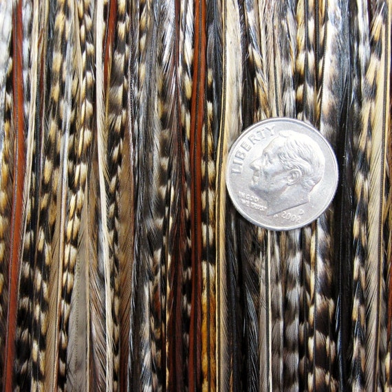 50% SALE Native CREE Xtra Long  Feather Hair Extensions xl 6 and Salon Micro Beads