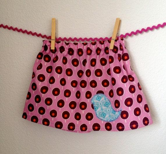 Purple Cotton Skirt 12-18mo Sugar Pop Moda - READY TO SHIP
