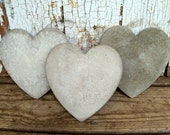 Concrete Hearts - Garden Accent - Mothers Day Gift