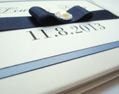 Wedding Guest Book Personalized - Sapphire