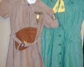 Vintage Girl Scout and Brownie Uniforms