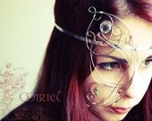 Faerie Butterfly Half Mask - Fantasy Fairy Bridal