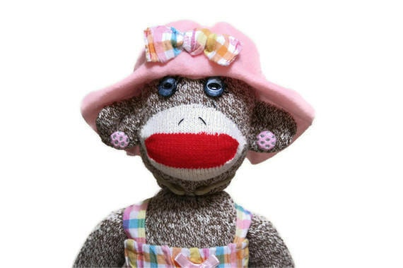 PASTEL PATTY Sock Monkey Gal