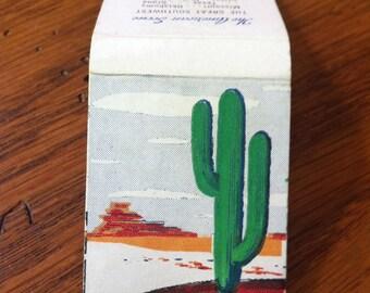 Matchbook American Scene Cactus Great Southwest 1940s 50's Vintage