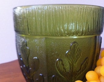 FTD Forest Green Leaves Vase Planter Vintage 1975