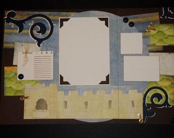 my prince 12x12 Two-Page Layout pre-cut Scrapbook KIT - boy, medieval