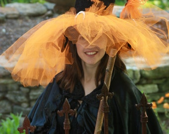 Witch Hat Orange Butterfly