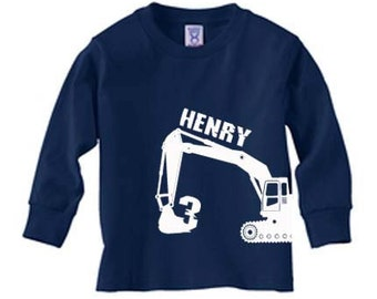 Personalized digger long sleeve t-shirt