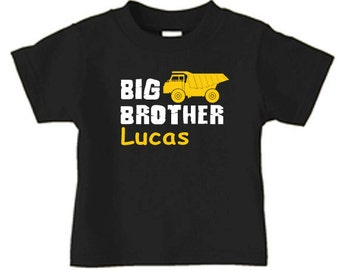 big brother dump truck t-shirt, matching sibling t shirts for boys
