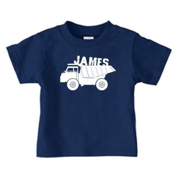 Personalized dump truck t shirt, boys truck birthday t shirt