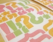 Punctuation Stickers - Large Heidi Swapp Exclamations 4 Sheets in Bright Pink, Orange and Green - Destash