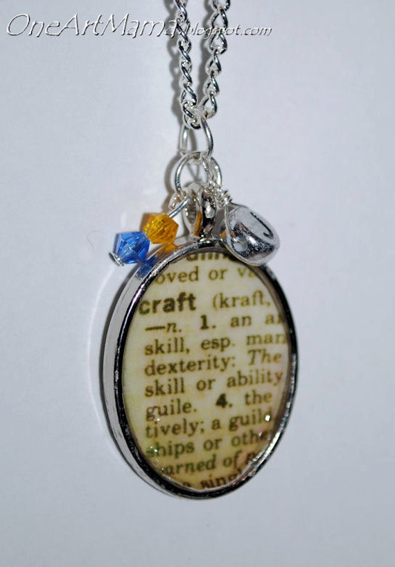 Personalised Definition Of Mum Print: Custom Dictionary Definition Necklace
