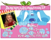 Blue's Clues Invitation - Printable BLUES CLUES Birthday Girl Invitations