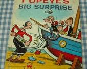 popeye's big surprise, vintage 1962 children's wonder book