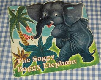 the saggy baggy elephant, vintage 1972 children's book