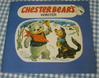 chester bear's winter, vintage 1980s children's book