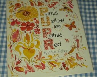 petals yellow and petals red, vintage 1977 children's book
