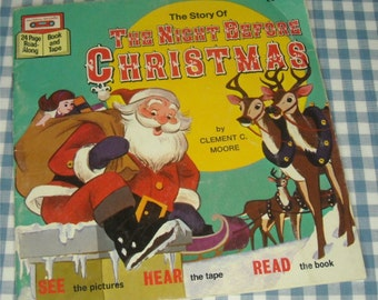 the story of the night before christmas, vintage 1987 children's book