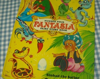 fantasia fairy story book number four, vintage 1983 children's book