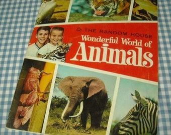 the random house wonderful world of animals, vintage 1967 children's book