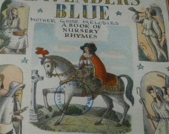 lavender's blue - mother goose melodies, vintage 1960 children's book