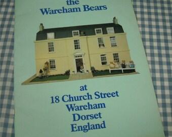 meet the wareham bears at 18 church street wareham dorset england, vintage 1984 children's book