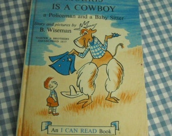 morris is a cowboy, a policeman and a baby sitter, vintage 1960 children's book