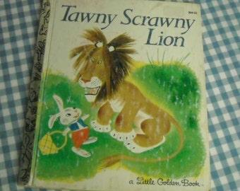 tawny scrawny lion, vintage 1981 children's little golden book