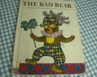 SALE the bad bear, vintage 1967 children's book
