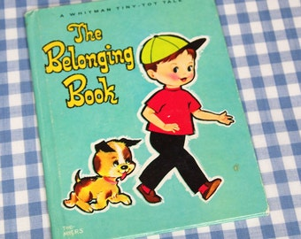 the belonging book, vintage 1968 children's whitman tiny-tot tale book