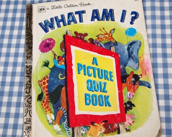 what am i - a picture quiz book, vintage 1976 children's little golden book