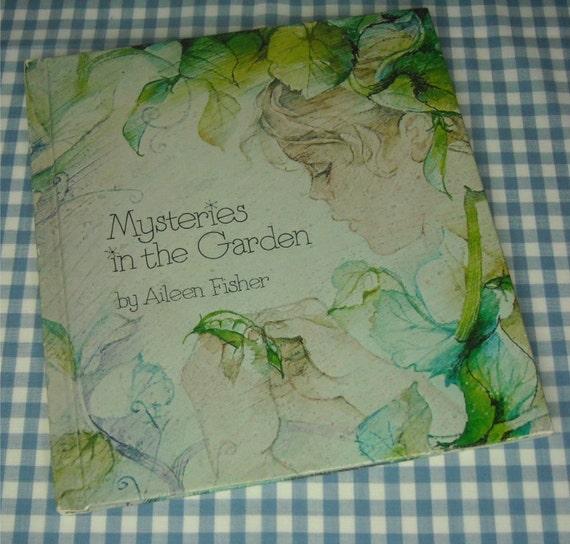 mysteries in the garden, vintage 1977 children's book