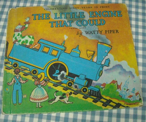 the little engine that could, vintage 1990 children's book, 60th anniversary edition