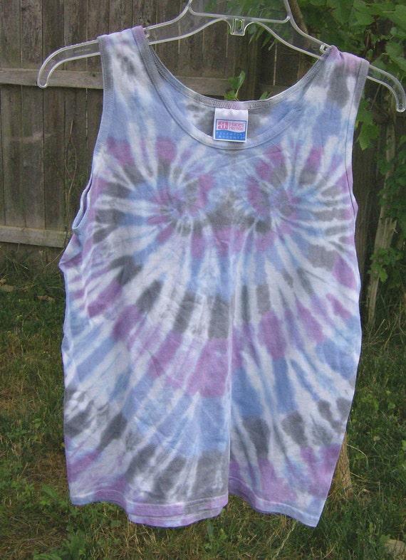 Tie Dye Wisteria Heart Tank Top