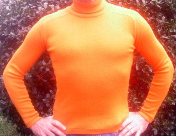 Vintage Orange Turtleneck by Head Sportswear, Unisex