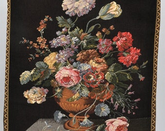 Tapestry of still life with flowers