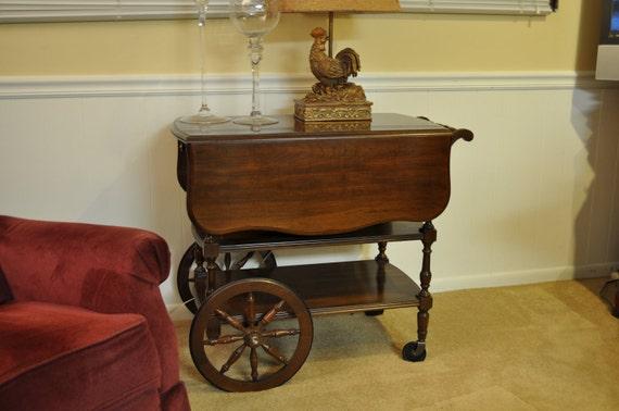 Vintage Dark Cherry Pennsylvania house Tea Cart/Server