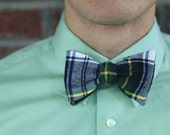 S A L E - Prep School Plaid Bow Tie- 50% OFF