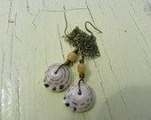 Hawaiian Tiger Puka Shell Earrings