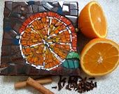 Mosaic Art Orange Zest Bright colours suit a kitchen