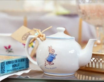 Baby Powder Scented Candle in Collectable Children's Tea Pot