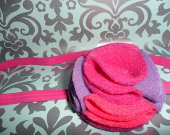 Flower Facinator Felt Headband