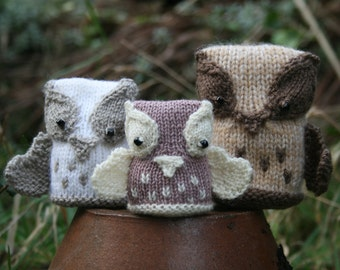 KNITTING PDF PATTERN - Owl Softies - The Hoot Family