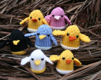 KNITTING PDF PATTERN - The Chicks - Cute Softies to make